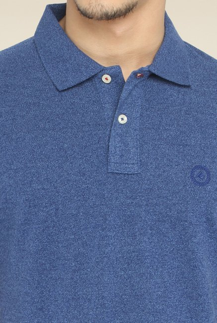 Greenfibre Steel Blue Half Sleeves Polo T-Shirt