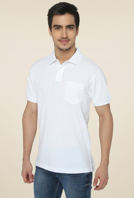 Greenfibre White Half Sleeves T-Shirt