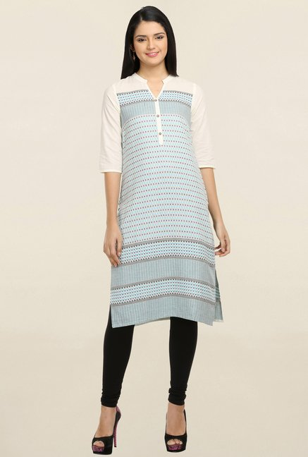 Aurelia Light Blue Printed Kurta