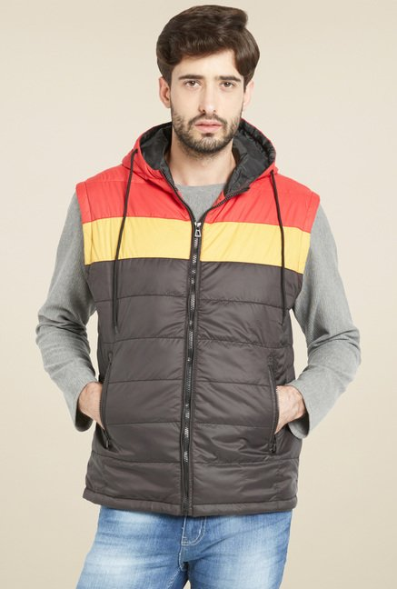Globus Brown Sleeveless Hood Jacket