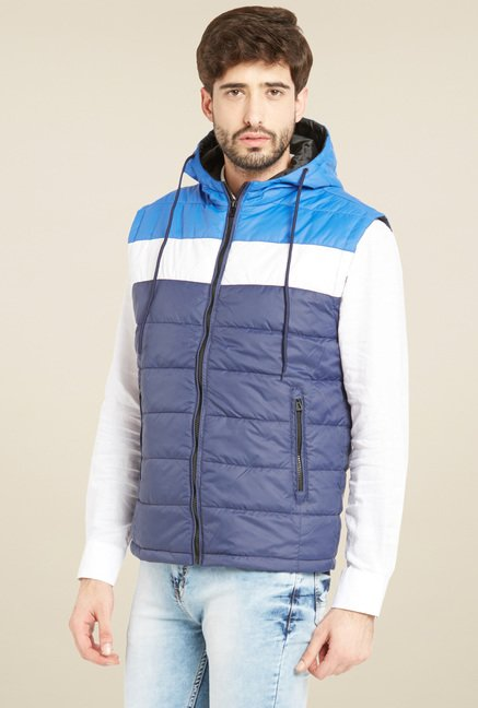 Globus Blue Hood Regular Fit Jacket