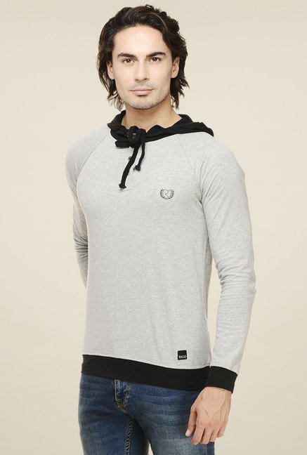 Rigo Light Grey Full Sleeves T-Shirt