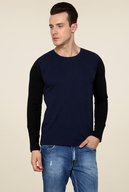 Rigo Navy Full Sleeves T-Shirt