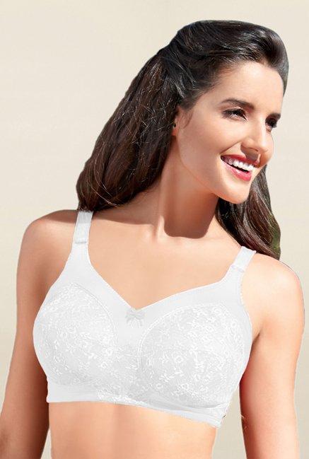 02c88d158 Buy Enamor White Non Padded Bra for Women Online   Tata CLiQ