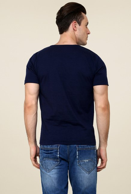 Rigo Navy Printed T-Shirt