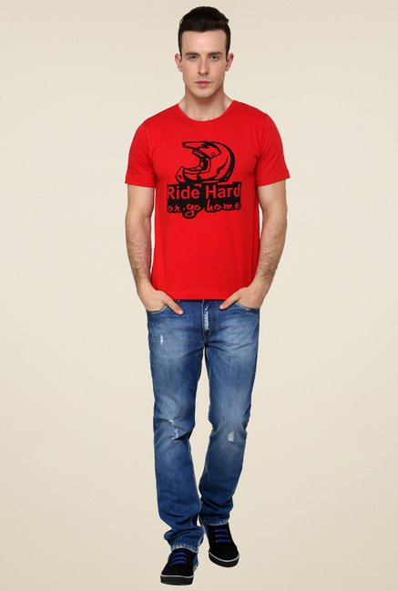 Rigo Red Printed T-Shirt