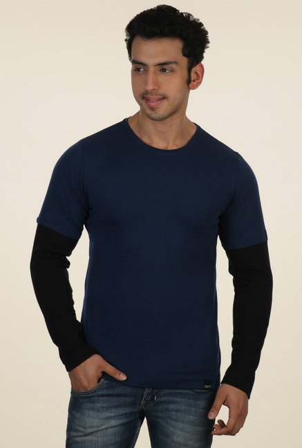Rigo Navy Round Neck T-Shirt