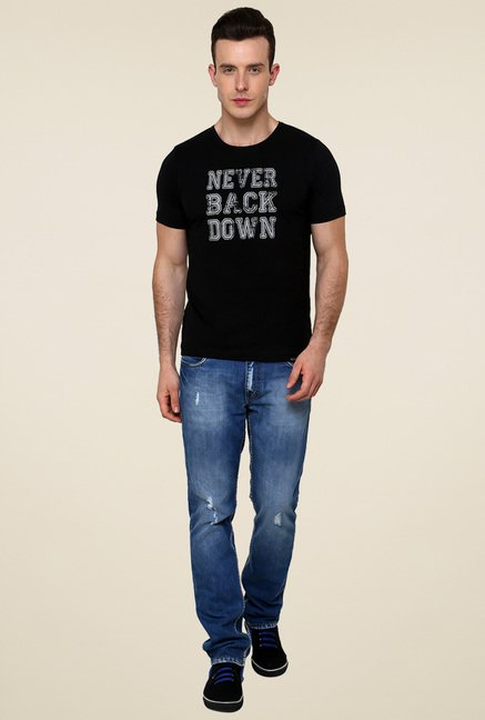 Rigo Black Printed T-Shirt