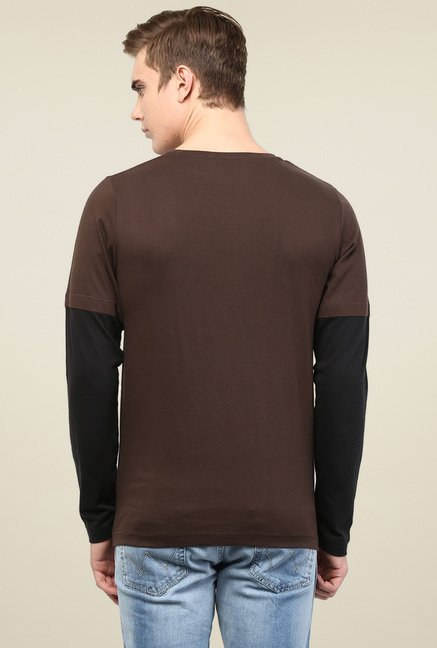 Rigo Brown Slim Fit T-Shirt