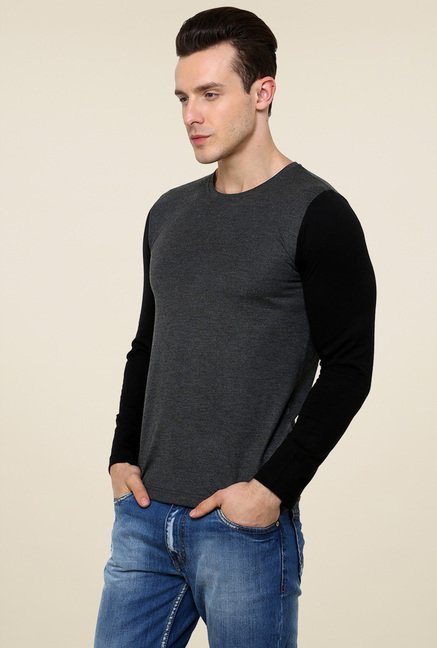 Rigo Charcoal Slim Fit T-Shirt