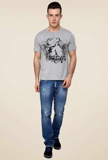 Rigo Grey Printed T-Shirt