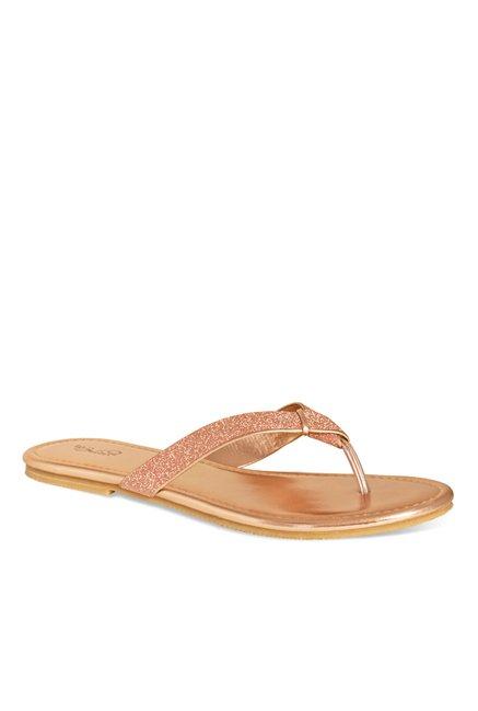 b96441b02ed5 Buy La Briza Rose Gold Thong Sandals for Women at Best Price   Tata CLiQ