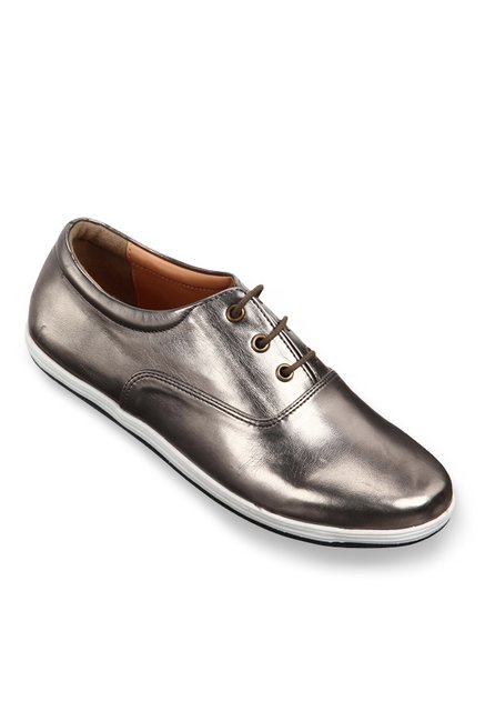 5f6337e693 Buy Lavie Pewter Oxford Shoes for Women at Best Price @ Tata CLiQ