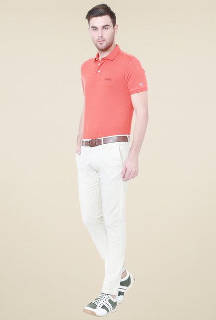 Allen Solly Orange Half Sleeves T-Shirt