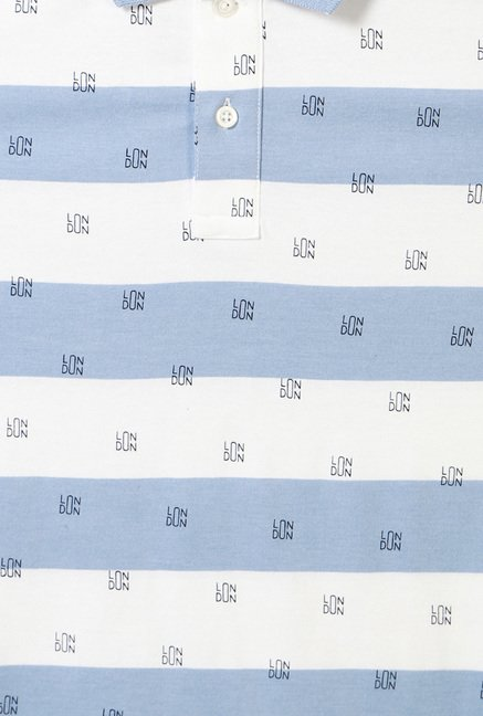 Allen Solly Blue & White Polo T-Shirt