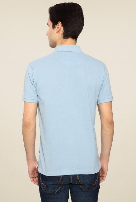 Allen Solly Steel Blue Cotton Polo T-Shirt