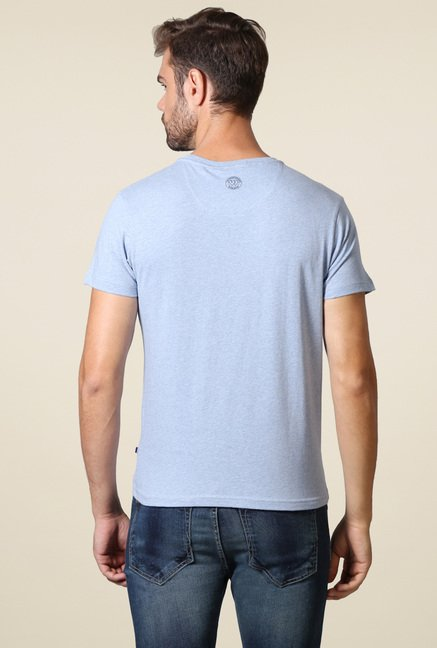 Allen Solly Stone Blue Crew Neck T-Shirt