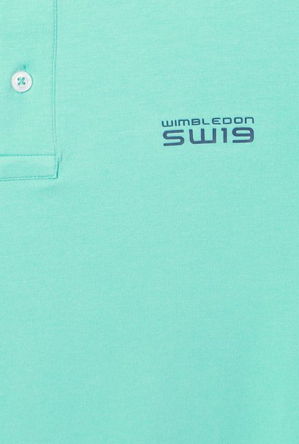 Allen Solly Turquoise Half Sleeves Cotton T-Shirt