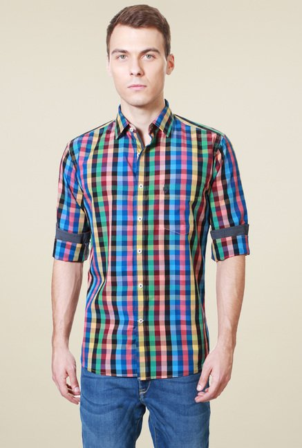 Allen Solly Multicolor Slim Fit Cotton Shirt