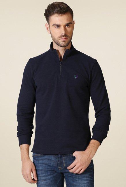 Allen Solly Navy Full Sleeves T-Shirt