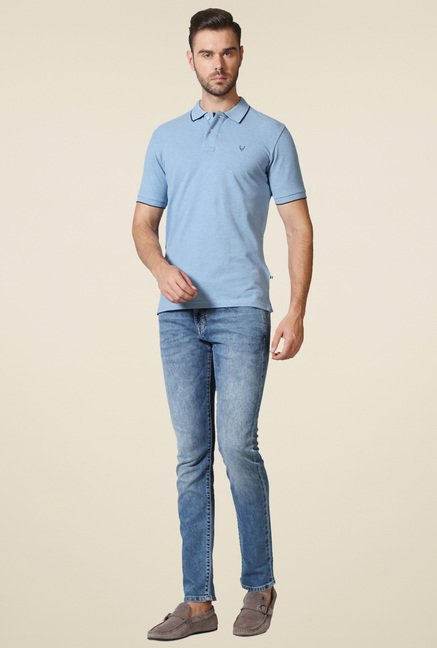 Allen Solly Sky Blue Polo T-Shirt