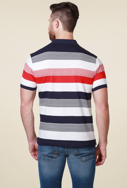 Allen Solly White & Black Half Sleeves T-Shirt