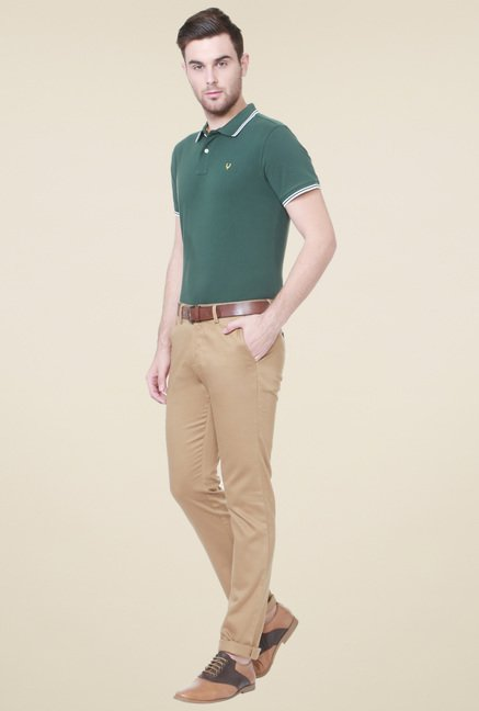 Allen Solly Olive Half Sleeves T-Shirt