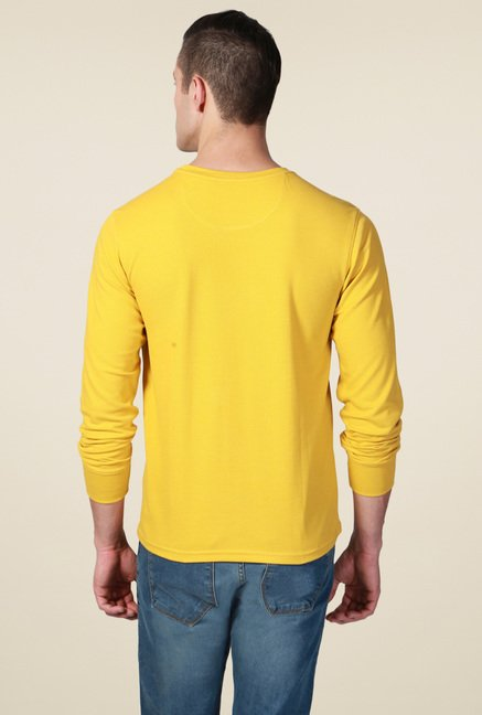 Allen Solly Yellow Crew Neck T-Shirt