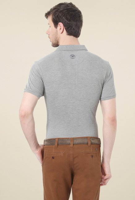 Allen Solly Grey Slim Fit T-Shirt