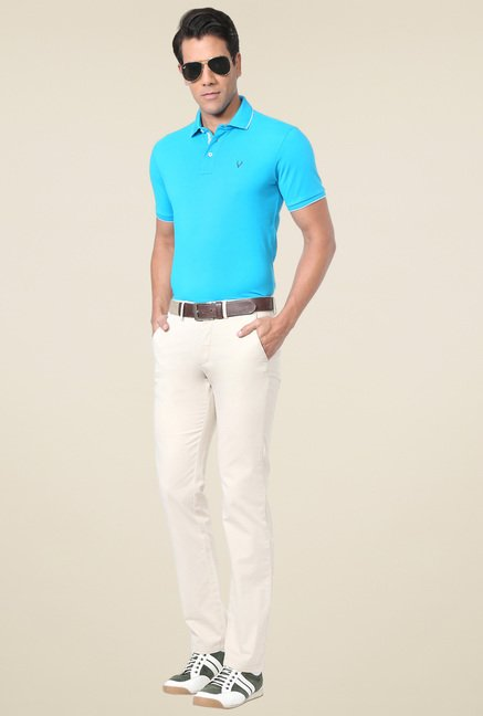 Allen Solly Turquoise Half Sleeves T-Shirt