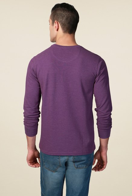 Allen Solly Purple Crew Neck T-Shirt