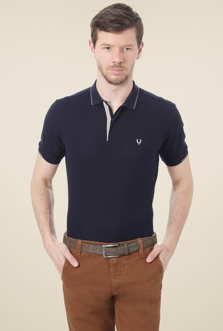 Allen Solly Navy Half Sleeves T-Shirt
