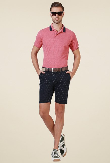 Allen Solly Pink Half Sleeves Polo T-Shirt