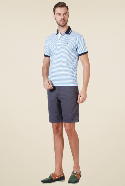 Allen Solly Light Blue Half Sleeves T-Shirt