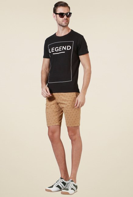 Allen Solly Black Printed T-Shirt