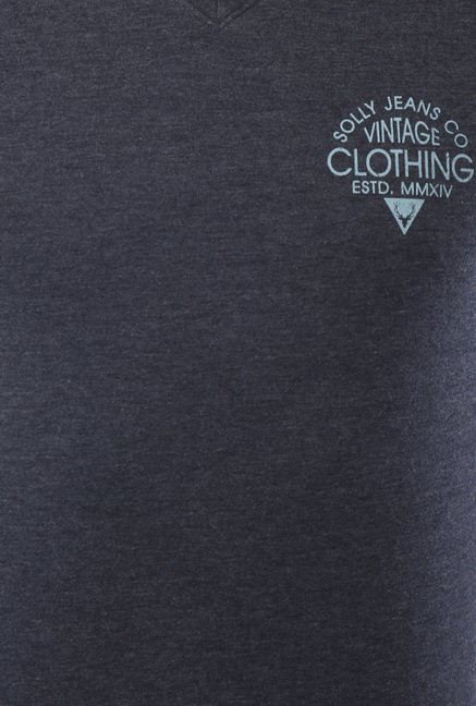 Allen Solly Grey V-Neck T-Shirt