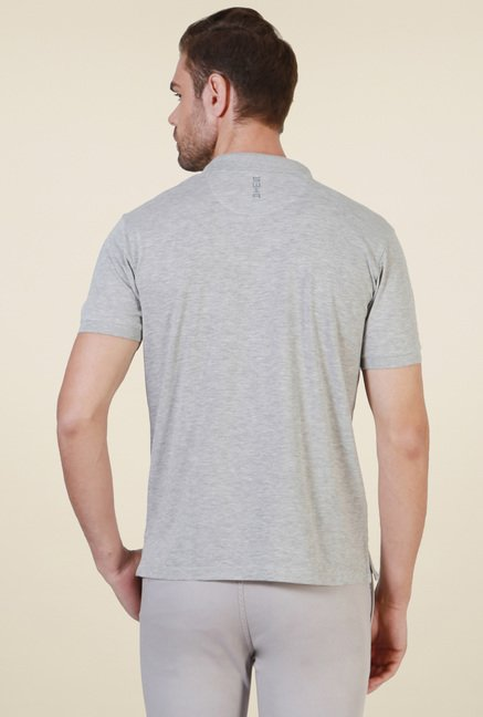 Allen Solly Grey Half Sleeves T-Shirt