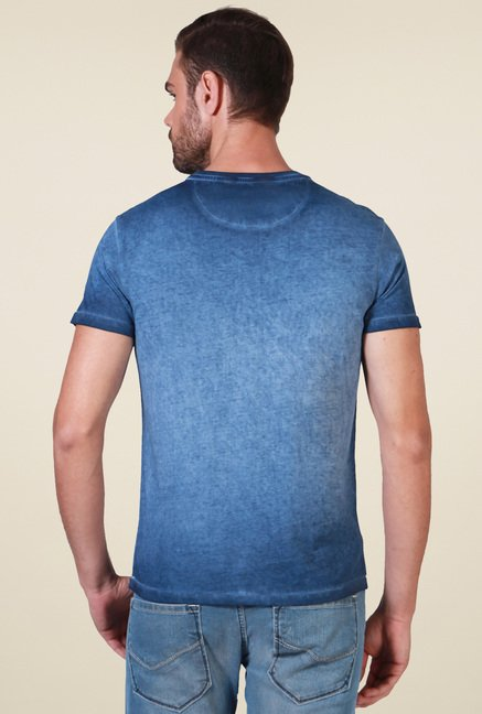 Allen Solly Dark Blue Slim Fit T-Shirt