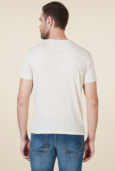Allen Solly Beige Regular Fit T-Shirt