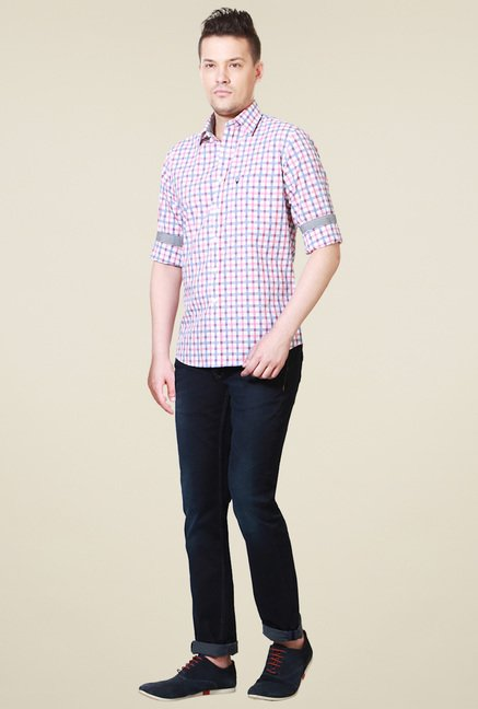 Allen Solly Pink Full Sleeves Slim Fit Shirt
