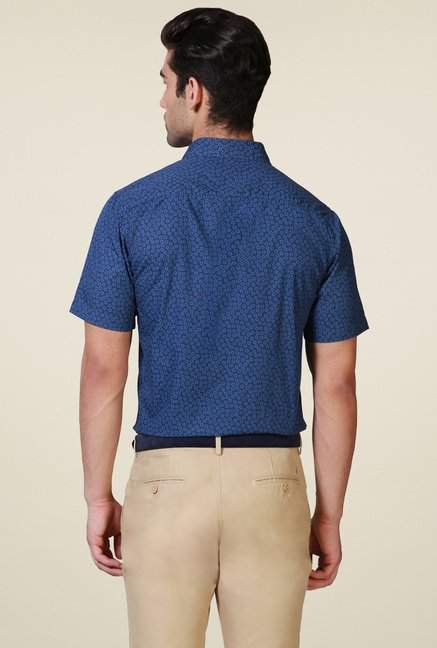 Allen Solly Dark Blue Half Sleeves Shirt