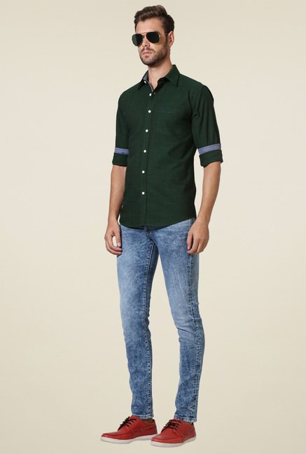 Allen Solly Olive Full Sleeves Shirt