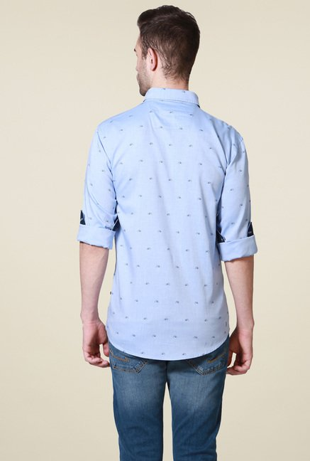 Allen Solly Blue Cotton Shirt