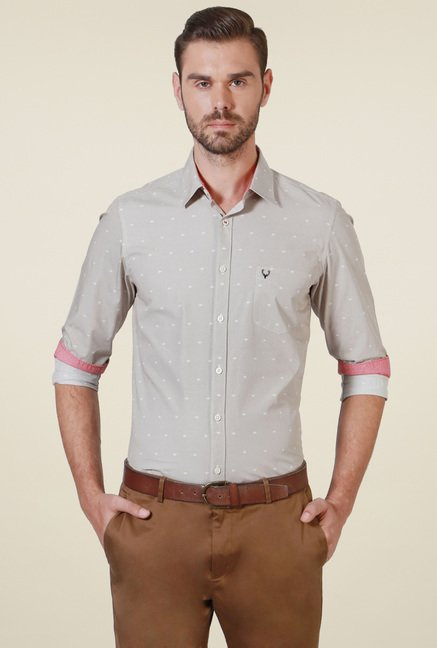 Allen Solly Grey Printed Shirt
