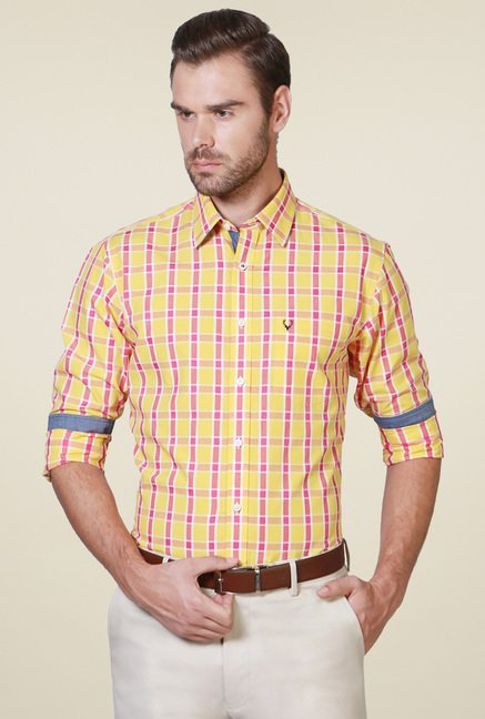 Allen Solly Yellow Checks Shirt