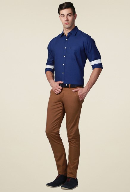 Allen Solly Dark Blue Full Sleeves Shirt