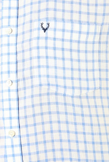 Allen Solly White & Blue Checks Shirt