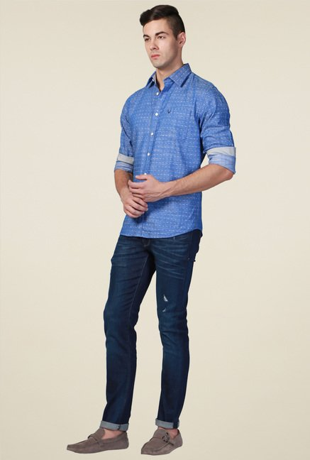 Allen Solly Blue Full Sleeves Cotton Shirt