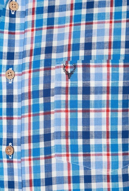 Allen Solly Blue & Red Checks Shirt