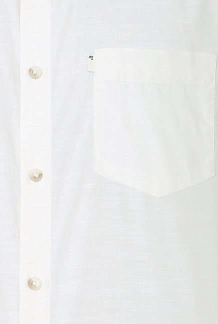 Peter England White Half Sleeves Shirt